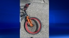 Bike girl was riding when hit by truck on Aug. 17, 2016 in Ingersoll Ont.
