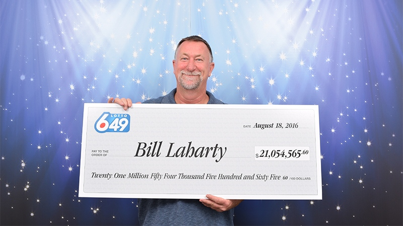 Bill Laharty, winner of a $21-million jackpot, set a record for winning the largest prize for a ticket purchased online in Canadian history. Aug. 18, 2016. (Courtesy BCLC)