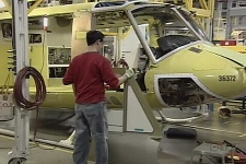 Bell Helicopter will lay off 500 employees for three months at its Mirabel plant, making commercial helicopters. (Feb. 2, 2009)