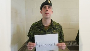 Pte. Andrew Fitzgerald's body was found Aug. 18 along the shoreline of Georgian Bay near a water treatment facility