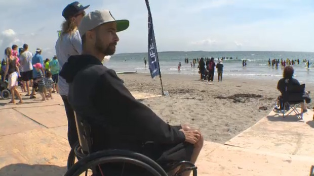 Surfers with disabilities find freedom in the waves at Nova Scotia