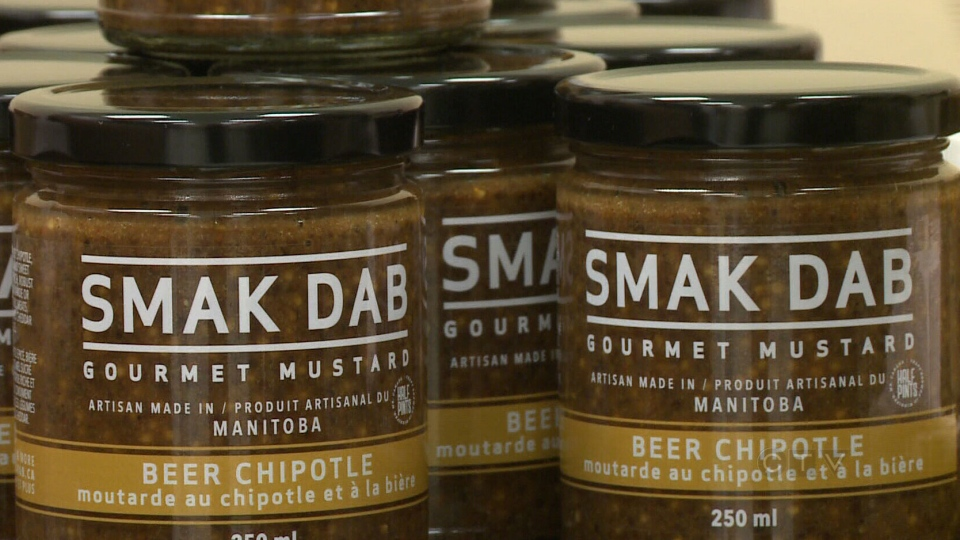 Smak Dab's artisanal mustards are made by 25-year-old Manitoba chef Carly Minish.