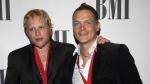 3 Doors Down members, Matt Roberts, left, and Brad Arnold arrive at the BMI Pop Music Awards in Beverly Hills, Calif. on May 17, 2005. (AP /Matt Sayles)