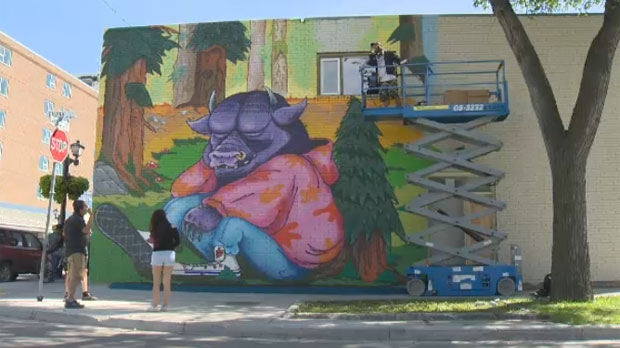 New mural in West End inspired by Where the Wild Things Are CTV