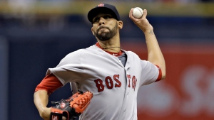 Boston Red Sox starting pitcher David Price delivers to the Tampa Bay Rays during the first inning of a baseball game Monday, Aug. 22, 2016, in St. Petersburg, Fla. (AP / Chris O'Meara)