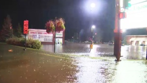 The Alberta government had issued an emergency alert for Westlock on Monday night but cancelled it as floodwaters began to recede on early Tuesday, Aug. 23, 2016.