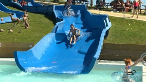 The children's slide at Fun Mountain waterpark where Jennifer Hoare's daughter was injured.