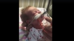 Sandra Tee posted a video of her 5-week-old daughter battling whooping cough on Facebook to raise awareness about vaccinations.
