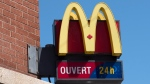 A McDonald's restaurant sign is seen in Montreal on Tuesday, May 31, 2016.  (Paul Chiasson / THE CANADIAN PRESS)
