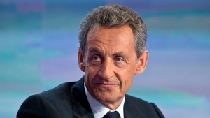 Former French President Nicolas Sarkozy, poses prior to a TV interviews at French TV station TF1 in Boulogne-Billancourt, outside Paris, Wednesday, Aug. 24, 2016. (AP Photo / Michel Euler)