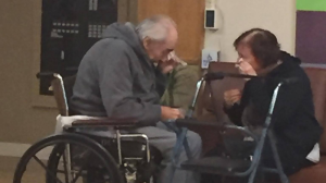 A photo of Surrey, B.C. seniors Wolf and Anita Gottschalk wiping away tears during a visit has struck a chord on Facebook, where it's been shared more than 1,000 times.