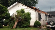 Damage from severe weather in Windsor