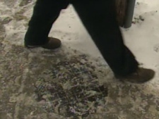Several people reported feeling a shock after walking on an electrified handwell covering.