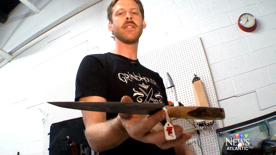 Josh Lamkey has managed to carve out a business using salvaged steel.