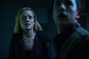 This image released by Sony Pictures shows Jane Levy, left, and Dylan Minnette in a scene from 'Dont Breathe.' (Gordon Timpen / Sony / Screen Gems via AP)