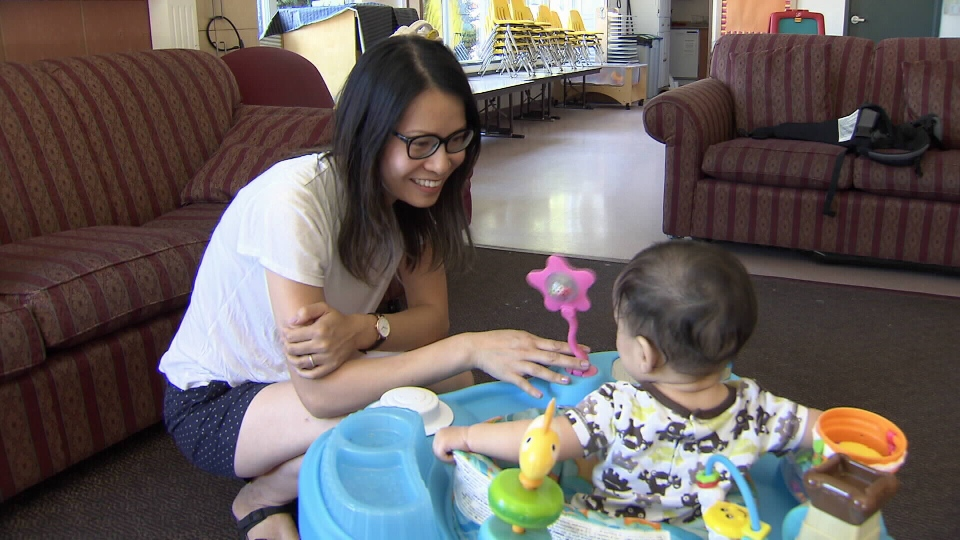 Ingrid Irani, a mother of two, is on maternity leave from her job as a registered nurse, and is already paying for daycare for her six-month old son Alexander. (CTV)