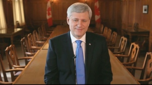 Former prime minister Stephen Harper is shown in this still image taken from a video he posted to Facebook. Harper had packed up his Parliament Hill office months ago but on Friday officially turned out the lights, resigning his seat as a member of Parliament and ending nearly two decades in public office. (HO-Facebook/The Canadian Press)
