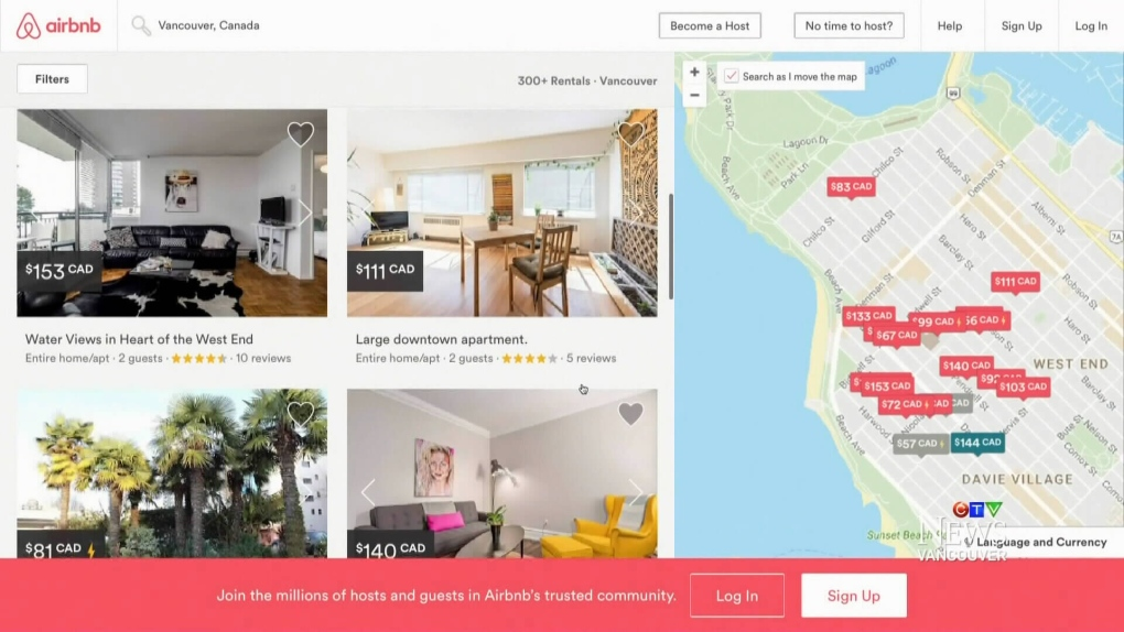 400 Listings Changed Or Pulled In First Month Of Vancouver S New Airbnb Rules Ctv News