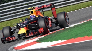 Red Bull driver Max Verstappen of the Netherlands steers his car during qualifying at the Belgian Formula One Grand Prix circuit in Spa-Francorchamps, Belgium, Saturday, Aug. 27, 2016. The Belgian Formula One Grand Prix will be held on Sunday. (AP /Geert Vanden Wijngaert)