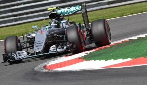 Mercedes driver Nico Rosberg of Germany steers his car during qualifying at the Belgian Formula One Grand Prix circuit in Spa-Francorchamps, Belgium, Saturday, Aug. 27, 2016. The Belgian Formula One Grand Prix will be held on Sunday. (AP Photo/Geert Vanden Wijngaert)