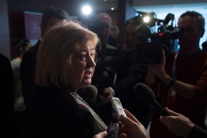 Minister of Employment, Workforce Development and Labour MaryAnn Mihychuk speaks with the media in Ottawa, Thursday, February 4, 2016. (Adrian Wyld / THE CANADIAN PRESS)