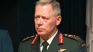 Chief of Defence Staff Gen. Jonathan Vance speaks in Ottawa.