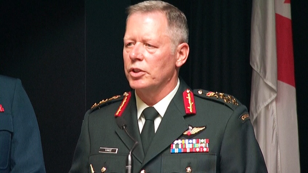 Chief of Defence Staff Gen. Jonathan Vance speaks at a news conference in Ottawa on Tuesday, Aug. 30, 2016.