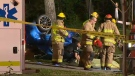 Emergency crews at the scene of a fatal crash in the 500 block of Memorial Drive NW on July 2, 2016