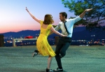 This image released by Summit Entertainment shows Ryan Gosling, right, and Emma Stone in a scene from 'La La Land.' (Dale Robinette / Summit Entertainment)