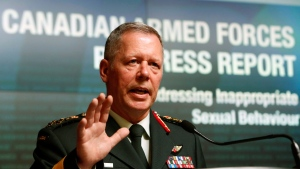 Chief of Defence staff General Jonathan Vance speaks during a news conference in Ottawa, Tuesday, Aug. 30, 2016. (Fred Chartrand / THE CANADIAN PRESS)