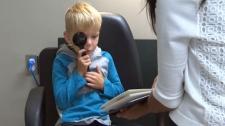 Ashton Grant's annual eye exam