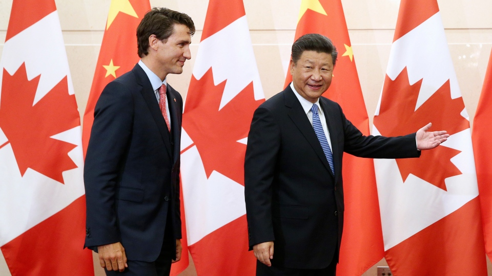Trudeau and  Xi Jinping