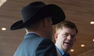 Brian Jean, leader of the Wildrose Party, the official opposition of the Alberta government is seen at the Conservative Party of Canada convention in Vancouver, Friday, May 27, 2016. (Jonathan Hayward / THE CANADIAN PRESS)