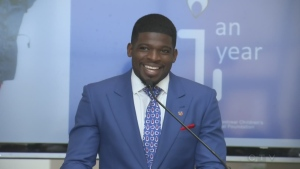 PK Subban at the Montreal Children's Hospital on Aug. 31, 2016