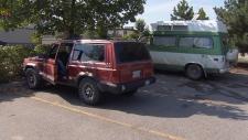 Camping in Kelowna parking lot