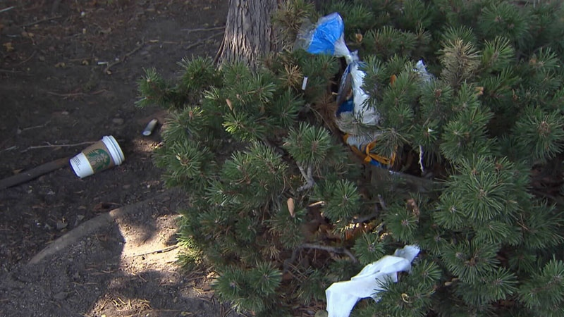 Some customers have noticed a build-up of garbage at the Kelowna Walmart.