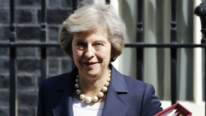 In this July 20, 2016 file photo, Britain's Prime Minister Theresa May leaves 10 Downing street for Prime Ministers Questions at the House of Parliament in London. (AP / Frank Augstein, File)