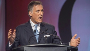Conservative MP Maxime Bernier speaks at the 2016 Canadian Telecom Summit in Toronto, Tuesday, June 7, 2016. (Eduardo Lima/The Canadian Press)