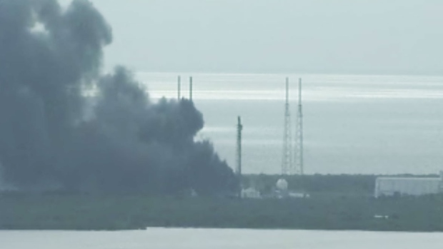 Explosion rocks spacex launch site in florida ctv news for Landscaping rocks windsor ontario