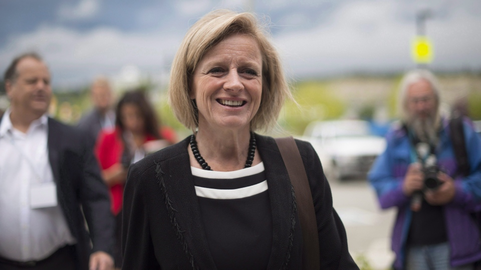 In this file photo, Alberta Premier Rachel Notley arrives for a meeting of provincial premiers in Whitehorse, Yukon, Thursday, July, 21, 2016. (THE CANADIAN PRESS / Jonathan Hayward)