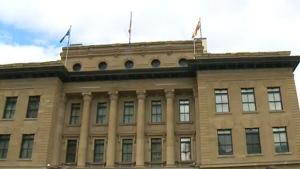 McDougall Centre flag raising
