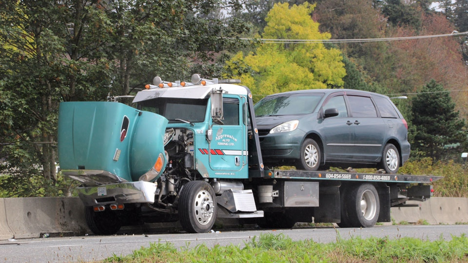 Abbotsford tow-truck driver hit