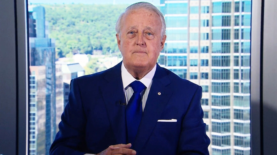 Former prime minister Brian Mulroney speaks to CTV's Question Period host Evan Solomon on Sunday, Sept. 4, 2016.