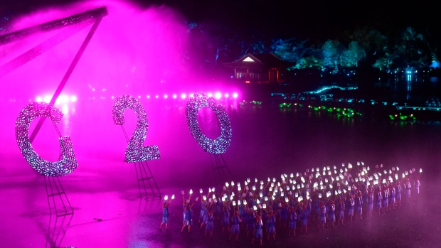 In this Sunday, Sept. 4, 2016 photo released by Xinhua News Agency, Chinese artists perform during an evening gala for the G20 Summit at the West Lake in Hangzhou in eastern China's Zhejiang province. (Huang Zongzhi / AP)
