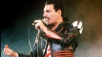 In this 1985 file photo, singer Freddie Mercury of the rock group Queen, performs at a concert in Sydney, Australia.  (AP Photo/Gill Allen, File)