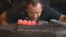 Master blacksmith Mathieu Colette