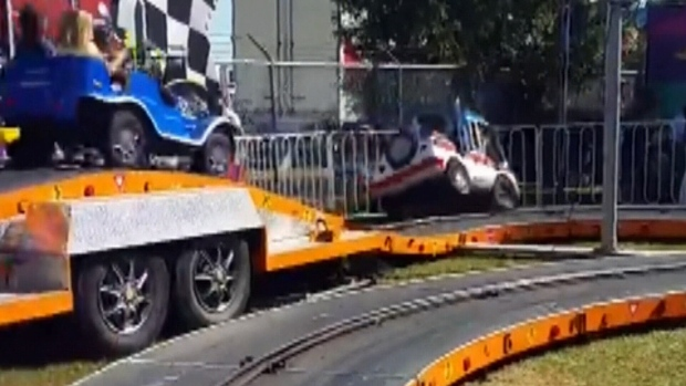 Toddlers hurt when carnival ride goes off rails at Saanich ...
