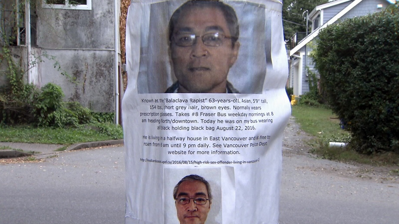 A poster showing photos of Larry Takahashi is seen in Mount Pleasant on Monday, Sept. 5, 2016.