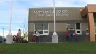 Copperfield School in the city's southeast welcomed students on Tuesday morning.