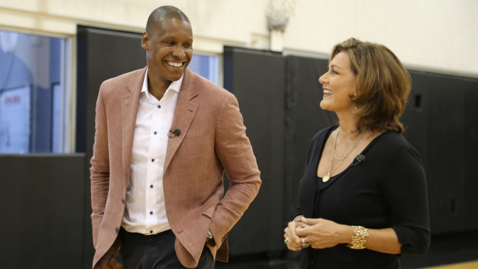 Raptors president and general manager Masai Ujiri speaks with CTV News Chief Anchor and Senior Editor Lisa LaFlamme about the documentary 'Giants of Africa.'